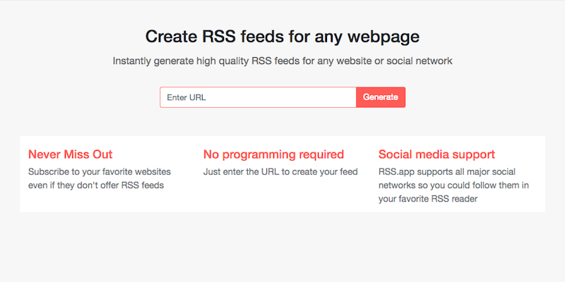Tips on how to create RSS Feeds from any webpage