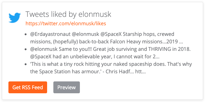 Example of tweets liked by Elon Musk